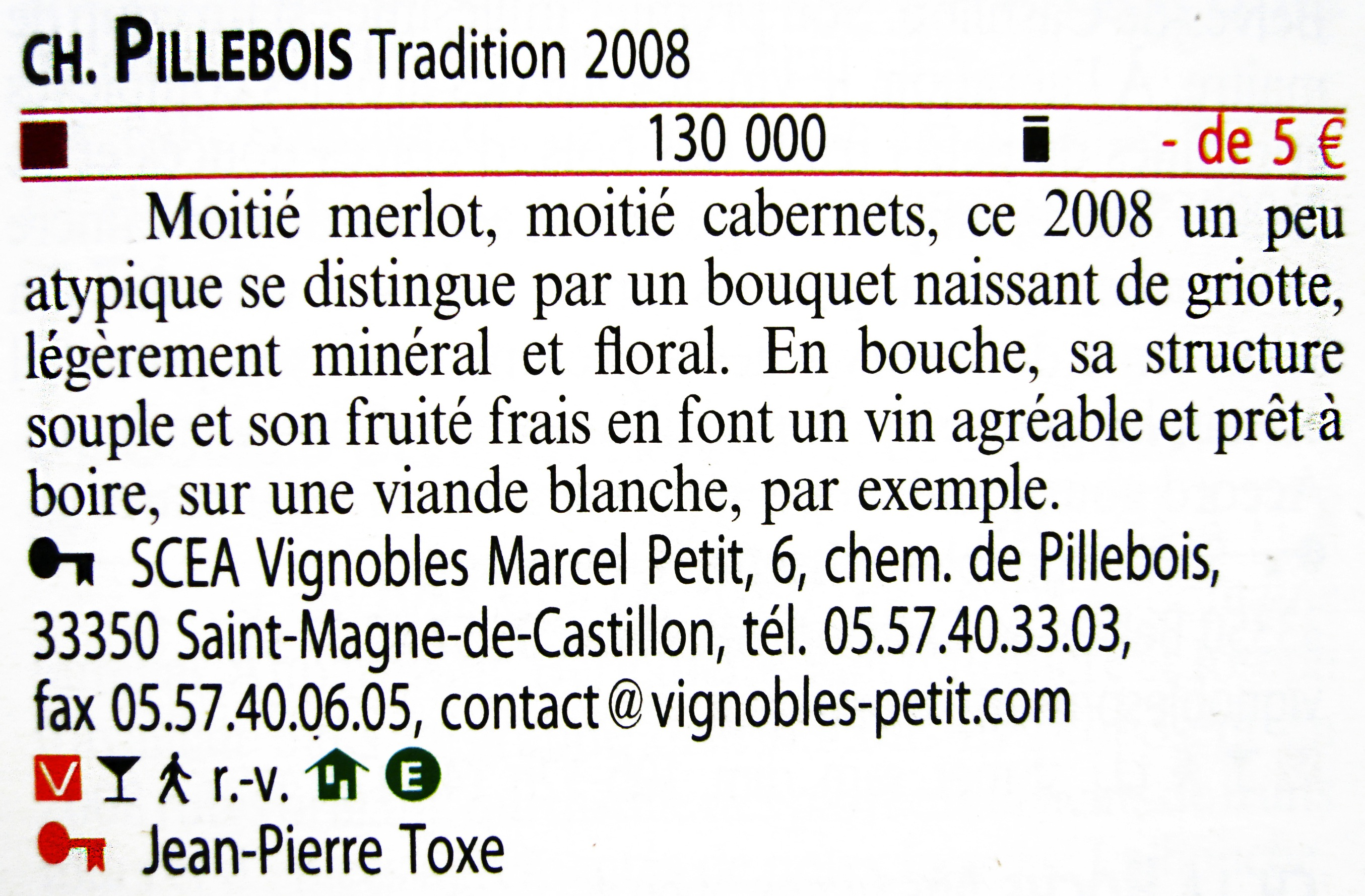 Pillebois tradition 2008